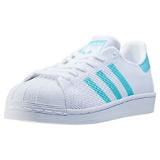 adidas Superstar W Womens Trainers White Blue New Shoes