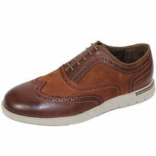 AZOR SHOES BERGAMO MENS BROWN LEATHER BROGUES