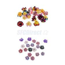 20Pcs Handmade 15mm Mixed Polymer Clay Flower Spacer Loose Beads DIY Findings