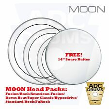 Moon Stripe Tom Head Drum Skins: Fusion/Rock/HyperDrive Pack (Two Ply Tone)