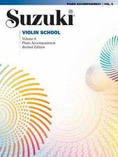 SUZUKI VIOLIN VOLUME 6 PIANO ACCOMPANIMENT - VIOLIN METHOD BOOK 39268