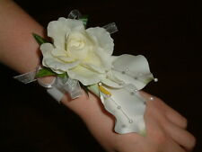 Wedding Flowers - Ladies Ivory Calla Lily Wrist Corsage, Prom Lilly, All Colours