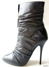 new $895 Giuseppe ZANOTTI black leather zip front platform ANKLE BOOTS - SEXY