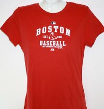NEW Womens ANTIGUA Boston RED SOX MLB Baseball White Red Logo Shirt