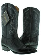Mens Black Real Crocodile Alligator J Toe Cowboy Leather Boots Western Rodeo