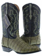 mens real green alligator crocodile tail exotic leather western cowboy boots J