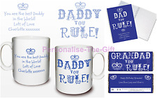 Personalised You Rule Gifts Presents Ideas For Father's Day Dad Daddy Grandad