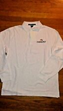 NWT COMCAST cable Devon & Jones White Polo pima cotton shirt sz S-M- L