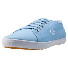 Fred Perry Kingston Twill Womens Trainers Sky Blue New Shoes