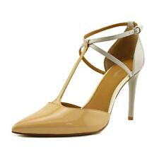 Calvin Klein Savannah Pump Women  Pointed Toe Patent Leather Nude Heels
