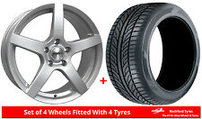 """Alloy Wheels & Tyres 17"""" Calibre Pace For Fiat 500 Abarth 08-17"""