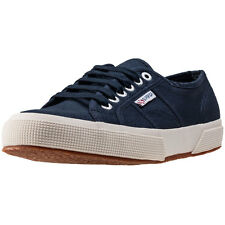 Superga 2750 Cotu Classic Womens Trainers Navy New Shoes
