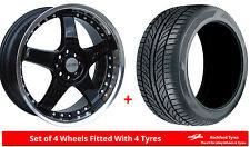 """Alloy Wheels & Tyres 15"""" Lenso RS5 For Vauxhall Astra (4 Stud) [H] 04-09"""