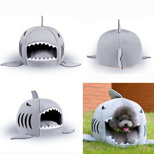 Home Dog Cat Puppy soft Nest Washable shark mouth Pet House Warm Indoor Sofa Bed