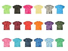 Plain Colors Tie Dye T-Shirts Youth Kids XS S M L 100% Cotton Colortone Gildan