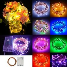 Waterproof Copper Wire AA Battery Operated LED Fairy String Light Wedding Party