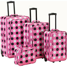 Rockland Luggage Escape 4-Piece Luggage Set 5 Colors