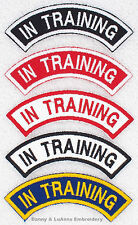 1 IN TRAINING ROCKER PATCH RR service dog Danny & LuAnns Embroidery