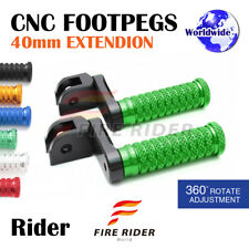 FRW CNC 6C 40mm Front Footpegs For Triumph Speed Triple 955i 99-04 99 00 01 02
