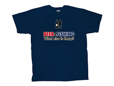 Funny Fishing T-shirt Beer & Fishing What Else Is There?