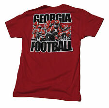 Georgia Bulldogs Raised Helmets Football T-shirt
