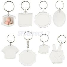 10pcs DIY Crafts Clear Acrylic Blank Photo Picture Frame Keychain Keyring