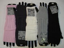 Fingerless Acrylic Sweater Cable Knit Gloves/Arm Warmers OS  Per Pair