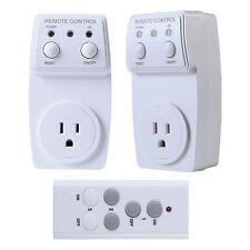 Wireless Electrical Outlet with Remote Control [Power Saving] Wall Plug Adapter