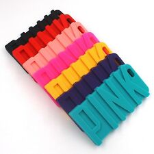 Letter 3D Rainbow Soft Silicone Phone Case Cover For iPhone 5 5S SE 6 6S 7 Plus