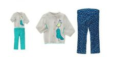 "Gymboree Girls ""Happy Blue Bird"" Bluebird Cardigan  Corduroy Pants 6 12 18 2T"