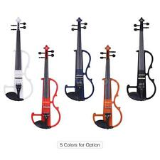 4/4 Electric Silent Violin Fiddle Style-2 Ebony Fingerboard Pegs Chin Rest B8Z8