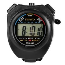 LCD Digital Sports Stop Watch Chronograph Time Date Alarm Timer Count SH01