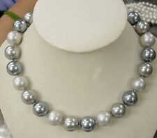 """Long 18""""- 48"""" 8mm 10mm 12mm South Sea Shell Pearl Round Beads Necklace AAA"""
