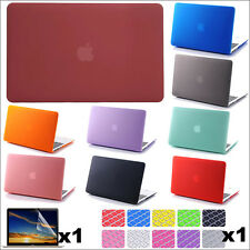 """3in1 Rubberized Matte Hard Case Protective Skin Shell for MacBook White 13""""A1342"""