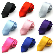 ZNU Mens Male Slim Narrow Arrow Skinny Neckwear Silk Stain Tie Necktie 9 Colors