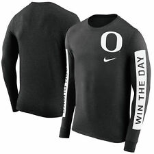 NIKE OREGON DUCKS NCAA BOUNDARY TRI-BLEND FRESH LONG SLEEVE BLACK T-SHIRT NWT
