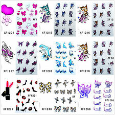New Nail Art Tips Decals Water Transfer Mixed Flowers Stickers Tips Decoration