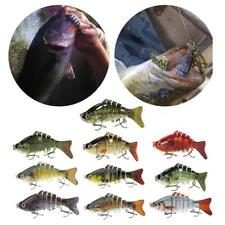 "10X 10cm/4"" Multi Jointed Fishing Bait Lure SUN-FISH Bass Trout Swimbait E3F0"