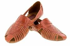 womens 771 real mexican brown huarache leather flip flop sandals slippers