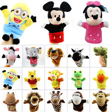Baby Kid Animal Plush Cloth Play Game Learn Story Family Finger Puppets Toy Doll