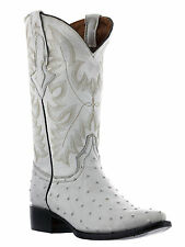 mens bone off white ostrich exotic crocodile western leather cowboy boots new