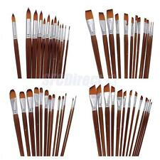 High Grade Artists Paint Brushes Long Handle Nylon Hair 13pcs Even Numbers Set