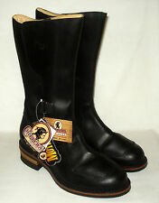 """12 WIDE Chippewa 12"""" Rally men's Black Leather Motorcycle Riding Boots 12 EE"""