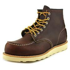 Red Wing Shoes 6-Inch Moc Toe Lug  Men 2E Moc Toe Leather Brown Boot
