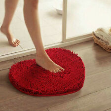 Doormat Bedroom Heart Shape Love Carpet Fluffy Soft Chenille Rug Mat Pad Cushion