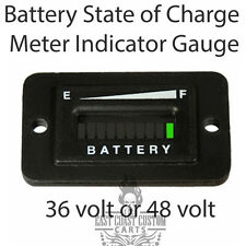 EZGO,Club Car,Yamaha Golf Cart 36v/48v Battery State of Charge Meter Indicator