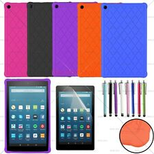 """Kiddie Shock Proof Silicone Case Cover For 2017 Amazon Kindle Fire HD 8 8"""" Tab"""