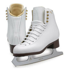 New GAM FIGURE SKATES 1147 Misses Astro with Mirage Blades White YOUTH