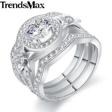 15mm Womens Girls 925 Sterling Silver Wedding Engagement US Sz 6-9 Band Ring