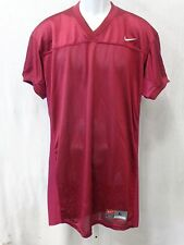 College Authentic Blank Football Jersey All Maroon